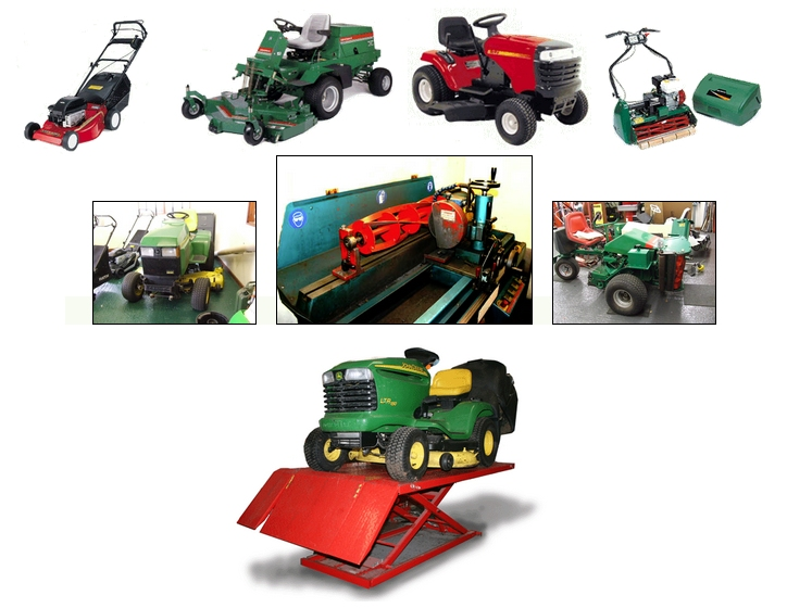 Group of lawn mowers